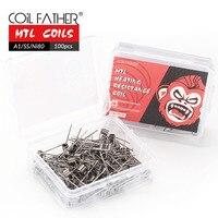Coil-Alambre de bobina prefabricado para cigarrillo electrónico RBA/RTA/RDA, 100 Uds., MTL, Ni80, A1, SS316, 22g, 24g, 26g, 28g