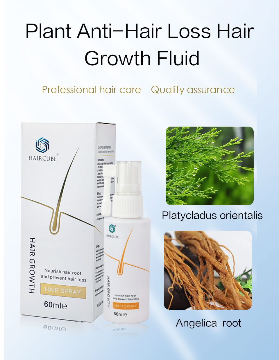 HAIRCUBE Hair Growth Oil Fast Hair Growth Agent Anti Hair Loss Remedy Treatment Hair Care Spray Thickener Hair Growth Essence