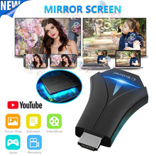 Mirascreen k12 tv vara adaptador stream wifi display receptor espelho tela de compartilhamento hd dongle airmirror airplay sem fio miracast