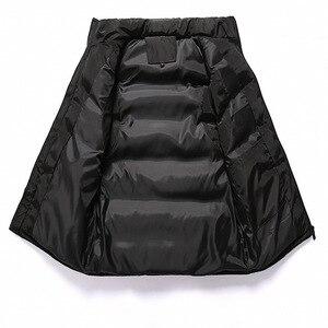 Image 5 - ฤดูหนาวผู้ชายสำหรับผ้าฝ้ายเสื้อแขนกุดเสื้อกั๊ก6XL 7XL 8XL 9XL Manขนาดใหญ่Mannen Black Royal blue Mens Coat