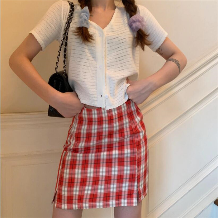 Hd3072cdd4719495ea4dfe21b3294c0479 - Korean Colored Plaid Skirt Women Student Chic Short Skirts Fashion Sexy Mini Skirts Spring Summer Female Skirts