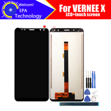 Vernee X LCD Display + Touch Screen Digitizer Montage 100% Original Neue LCD + Touch Digitizer für Vernee X + werkzeuge