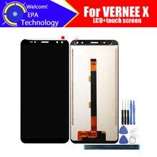 Vernee × lcd ディスプレイ + タッチスクリーンデジタイザアセンブリ 100% オリジナル新液晶 + タッチデジタイザー vernee x + ツール