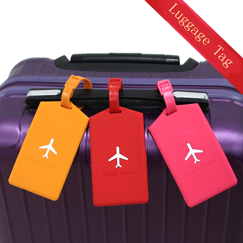 Airplane Luggage Tags Women  Silica Gel Suitcase ID Address Holder Baggage Boarding Tag Portable Label Bag Travel Accessories
