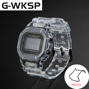 Image 4 - G WKSP DW5600/5610/6900 Silicone Watchband Replacement Rubber Strap Sports Waterproof Transparent Watch Band Bezel