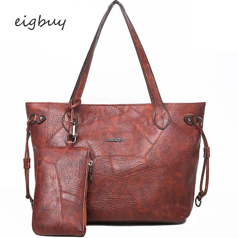 Ladies Female Shoulder Bag Brand Classic  Leather Hand Bags Crossbody Brown Retro Sac Main Femme