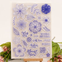 Clear Stamps Different Style Beautiful Leaves FlowersFor DIY Scrapbooking/Card Making/Album Decorative Silicon Stamp Craft