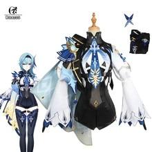 ROLECOS Game Genshin Impact Eula Cosplay Costume Genshin Impact Cosplay Costume Eula Outfit Halloween Cosplay Uniform Full Set