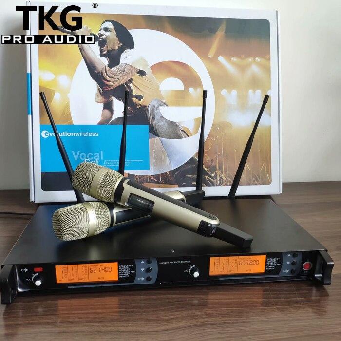 615 675MHz KTV karaoke stage performance microphones skm9000 handhold headset lavalier mic dual professional wireless microphone