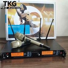 615-675 МГц KTV Караоке сценические микрофоны skm9000 handhold гарнитура петличный микрофон двойной профессиональный беспроводной микрофон