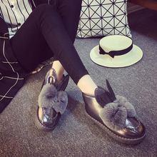 Новинка модные зимние ботинки женские милые хлопковые с узелком