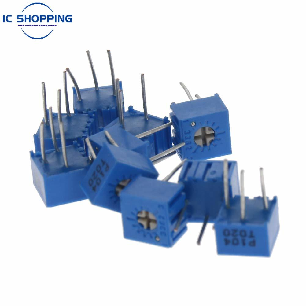 10 шт., 3362P одноповоротный прецизионный регулируемый резистор 100R 500R 1K 2K 5K 10K 20K 50K 100K 200K 500K 1M потенциометр