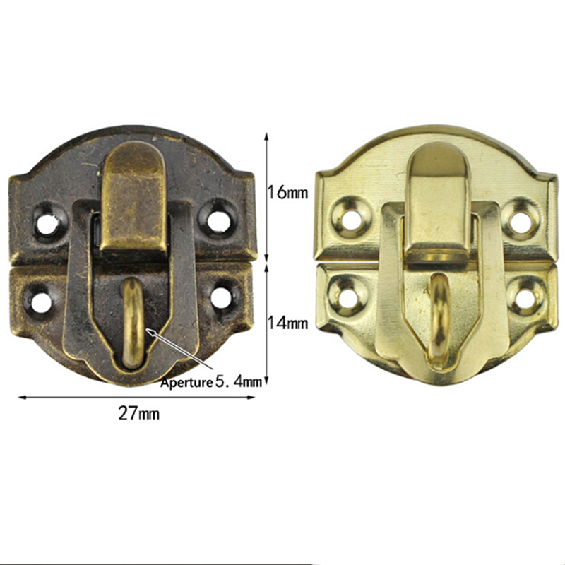 10Pcs/lot Antique Hasps Iron Lock Catch Latches For Suitcase Buckle Clip Clasp Vintage Hardware 27*30mm