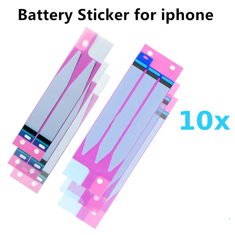 10Pcs Battery Adhesive Sticker for iPhone 6 & 6S Plus 5S 7 7Plus 5 Double Tape Pull Trip Glue Replacement Parts Au17 dropship