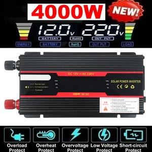 Inverter 12V 220V 3000W 4000W 6000W Peak Solar Power Voltage Convertor Transformer DC 12V AC 220V Solar Inverter + LCD Display