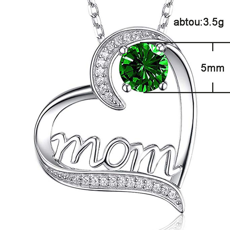 Mom Diamond Necklace - Mother's Day Necklace