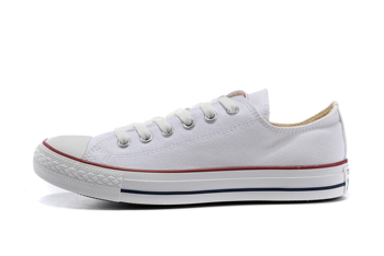 цена на Converse all star classic men's and women's sneakers for men women canvas shoes all White High low Skateboarding Shoes
