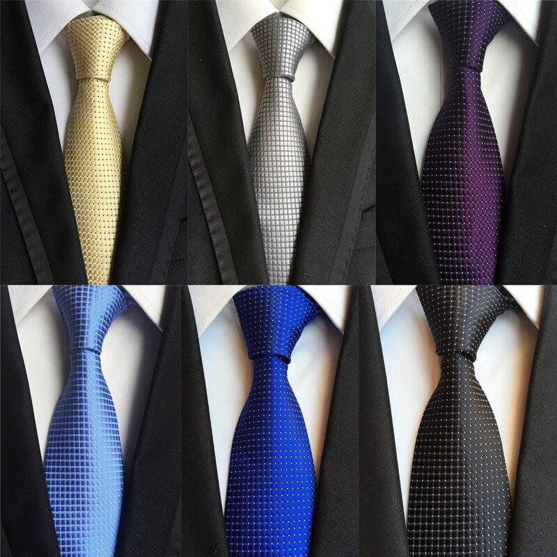 CityRander Brand Yellow Mens Neckties 2019 New Black Neck Tie Solid Gold Ties For Men Silk Wedding Tie 8cm Slim Gravata LD036