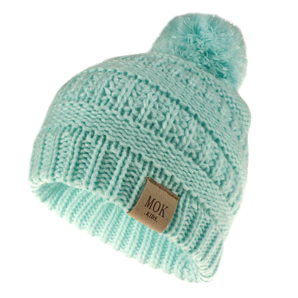 Kids Winter Hat Baby Pompom Hats Candy Soft Child Knitting Crochet Keep Warm Children Cap Unisex Skullies Beanies H200D 4