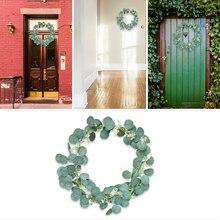 Рождественские украшения, подвесные лозы, экологически чистые искусственные растения, на стену, реалистичные листья для праздника, вечерние украшения для дома