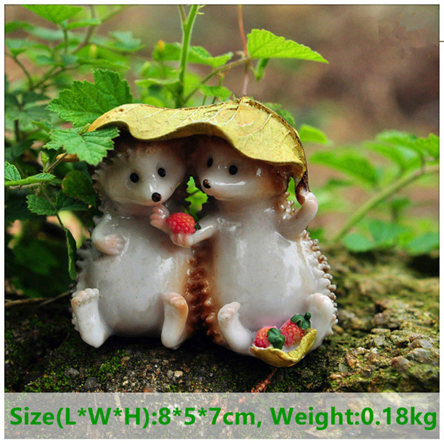 Everyday Collection Mini Fairy Garden Decoration Hedgehog Animal Figurine Ornament Tabletop Balcony Home Decor 6
