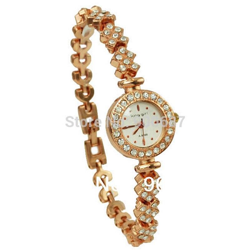 King Girl Luxury Brand Watches Women Rose Gold Fashion Clock Crystal Female Watch Relogio Feminino