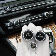 Cubierta de cristal para interruptor de aire acondicionado de coche, pegatinas de cristal para BMW 5 6 7 Series f10 f18 f11 f12 f13 f01 f02 f15 f16