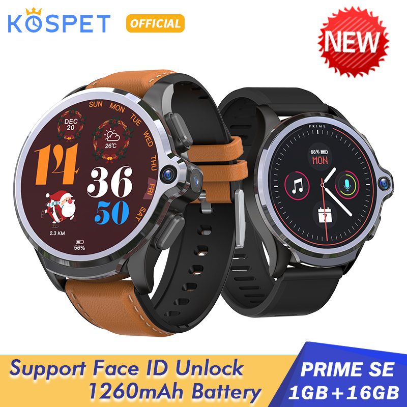 KOSPET Smart-Watch Ios-Phone Face-Id Xiaomi Android Men 16GB 1GB 4G for 1260mah SE Unclok