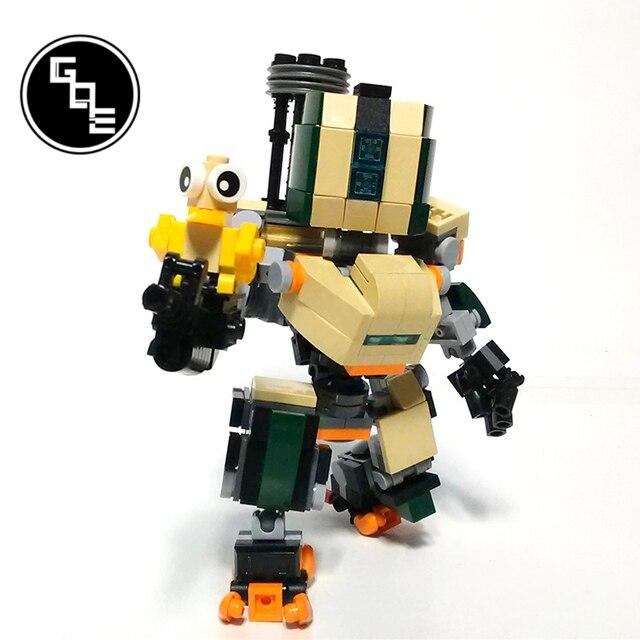 MOC-19381 Overwatch Bastion SD figures building blocks bricks toys for kids gifts