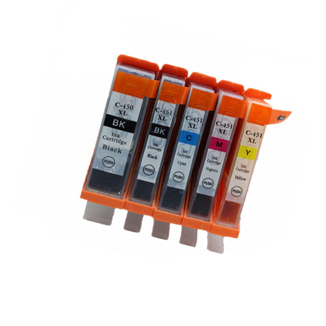 PGI-450 CLI-451 PGI-450XL Cartuchos de Tinta Para Pixma PGI 450 PGI450 MG5440 MG5540 MG6340 MG6440 MG7140 Impressora Jato de tinta