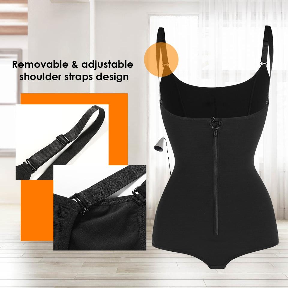 Image 4 - Women Plus size 5XL Shapewear Body Shaper Slimming waist trainer Tummy Control Bodysuit Postpartum Recover Underwear Corset Butt-in Bodysuits from Underwear & Sleepwears on AliExpress