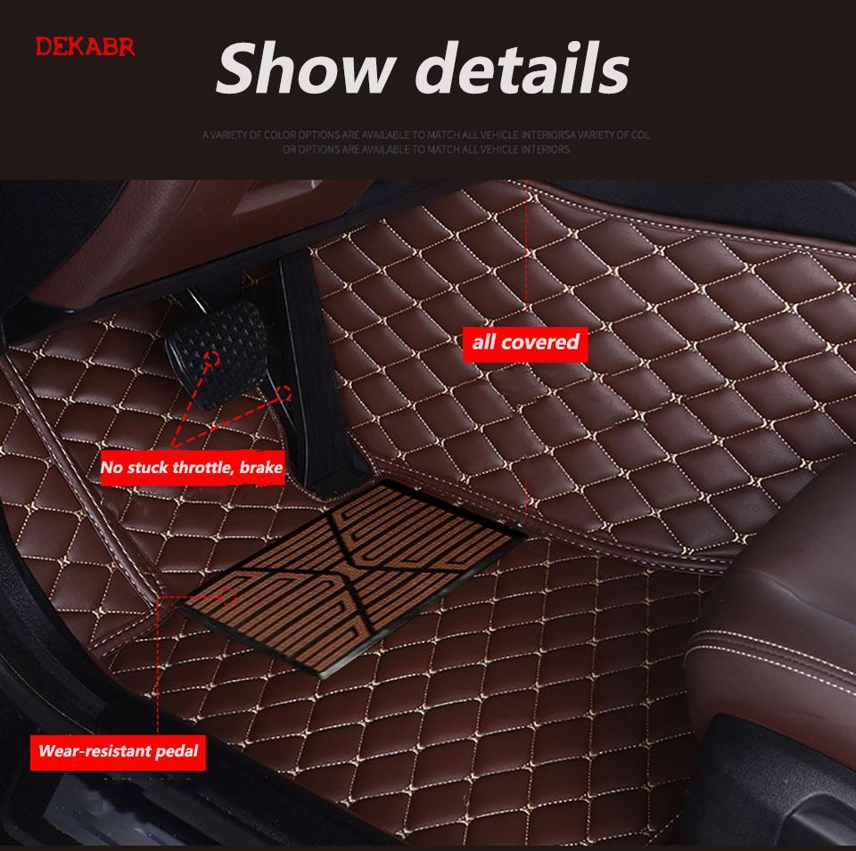 Dekabr Lsrtw 2017 Fiber Leather Car Floor Mat For Tesla Model X 2015 2016 2017 2018 2019 2020 5seats 6 Seats7 Seats Sticker - 3