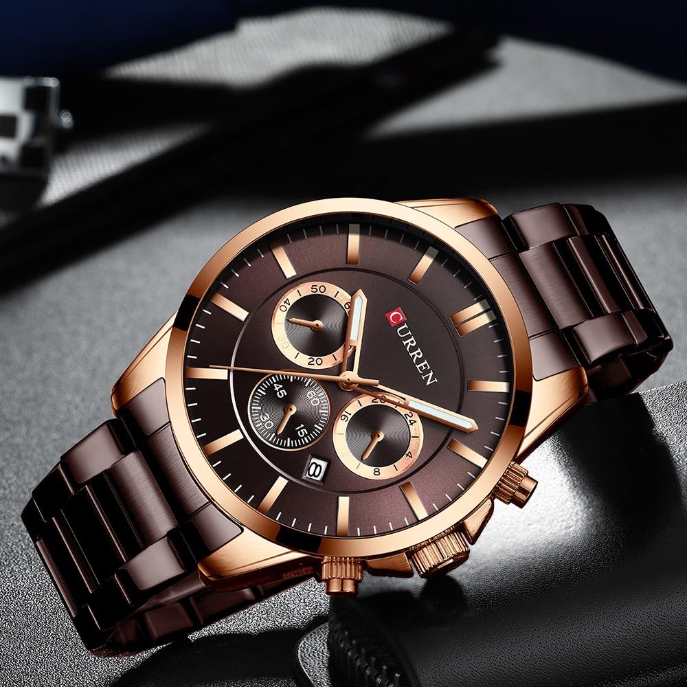 homens moda quartzo relógio de pulso negócios