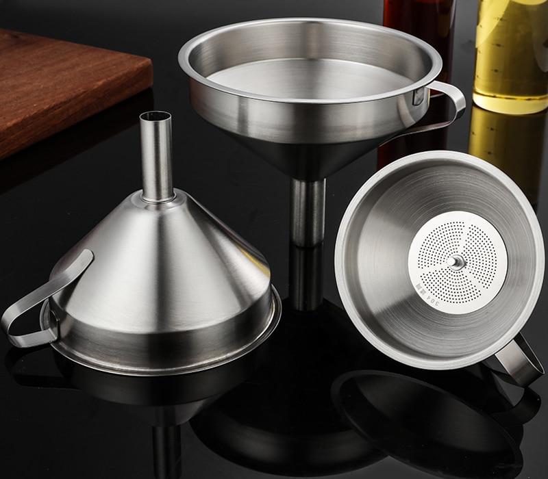 Stainless Steel  Kitchen Oil Funnel