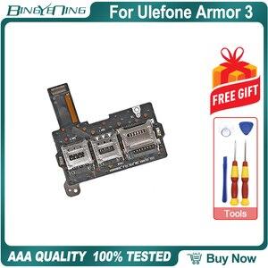 Image 1 - 100% 新オリジナル Ulefone 鎧 3 デュアル SIM カードトレイフレックスケーブル修理交換アクセサリー部品