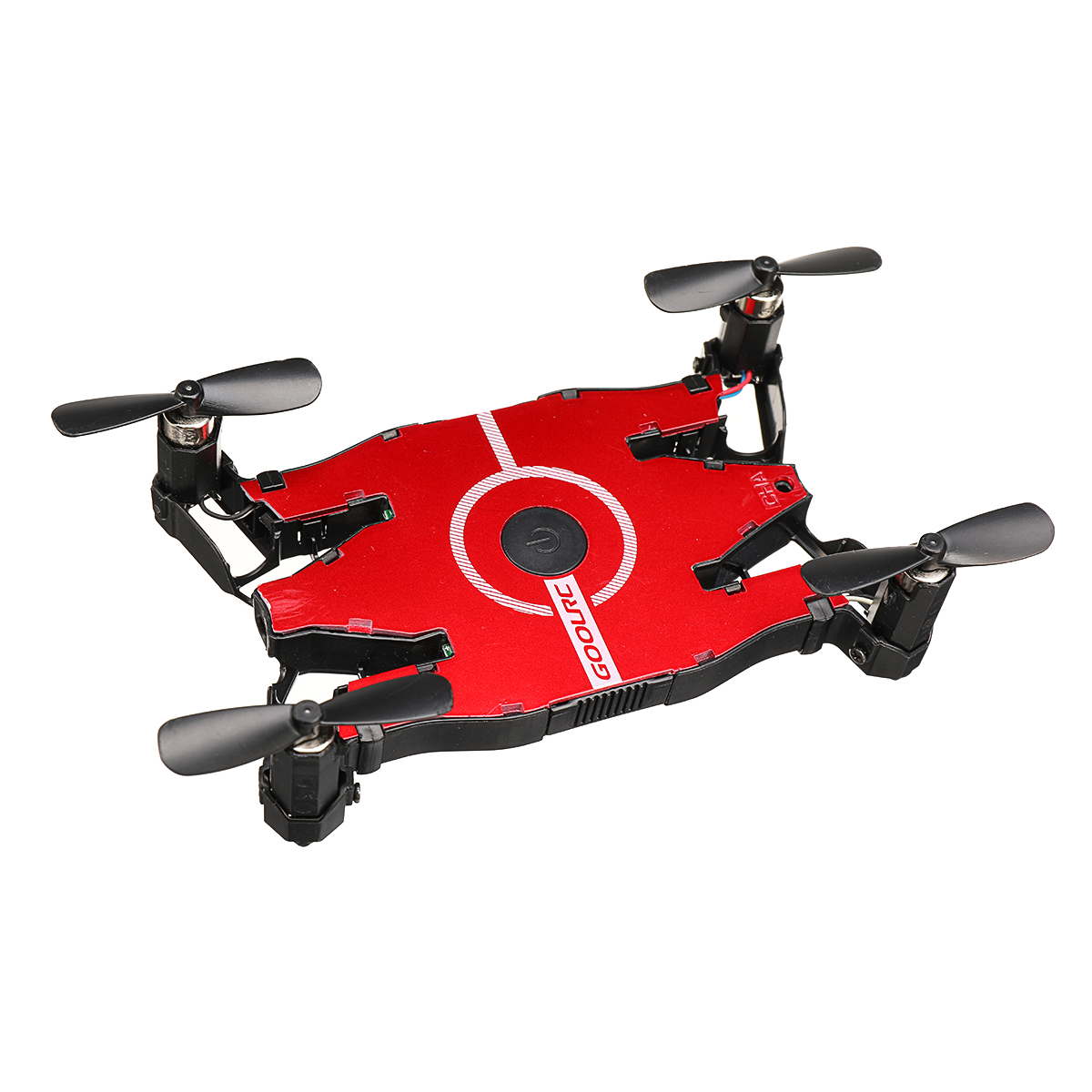 JJRC T49 Wifi FPV Mini Selfie Drone HD Camera Auto Foldable Arm RC Quadcopter Helicopter Christmas Gift Kid VS H37 E57 (red)