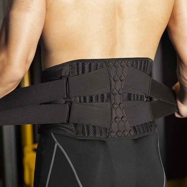גברים נשים מותן גוזם עמוד השדרה פלדת צלחת תמיכת כושר כושר הרמת משקולות מותני חזור Brace ספורט אבזרים