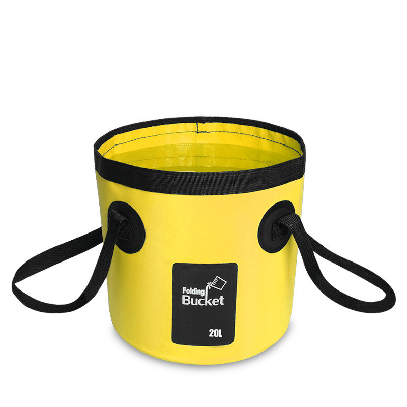 12L 20L portable bucket water storage bag storage bag waterproof water bag fishing folding bucket  MJ0703