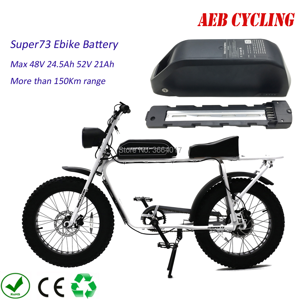 Free Shipping Jumbo shark Super73 ebike <font><b>battery</b></font> 500W 750W 1000W 48V 20Ah 21Ah 25Ah 28Ah <font><b>30Ah</b></font> Li-ion shark <font><b>battery</b></font> with charger image