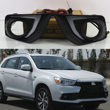 LED Daytime Running Lights For Mitsubishi Outlander Sport ASX RVR 2016 2017 2018 2019 DRL Fog lamp cover with yellow signal