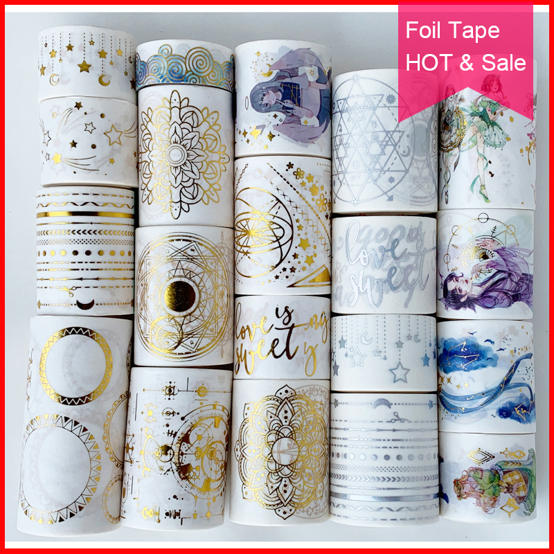 Free shipping,Foil washi tape,Foil Tape,DIY craft Scrapbooking tape,Scrapbook Diary craft,Many Coupons & patterns.HOT & Sale