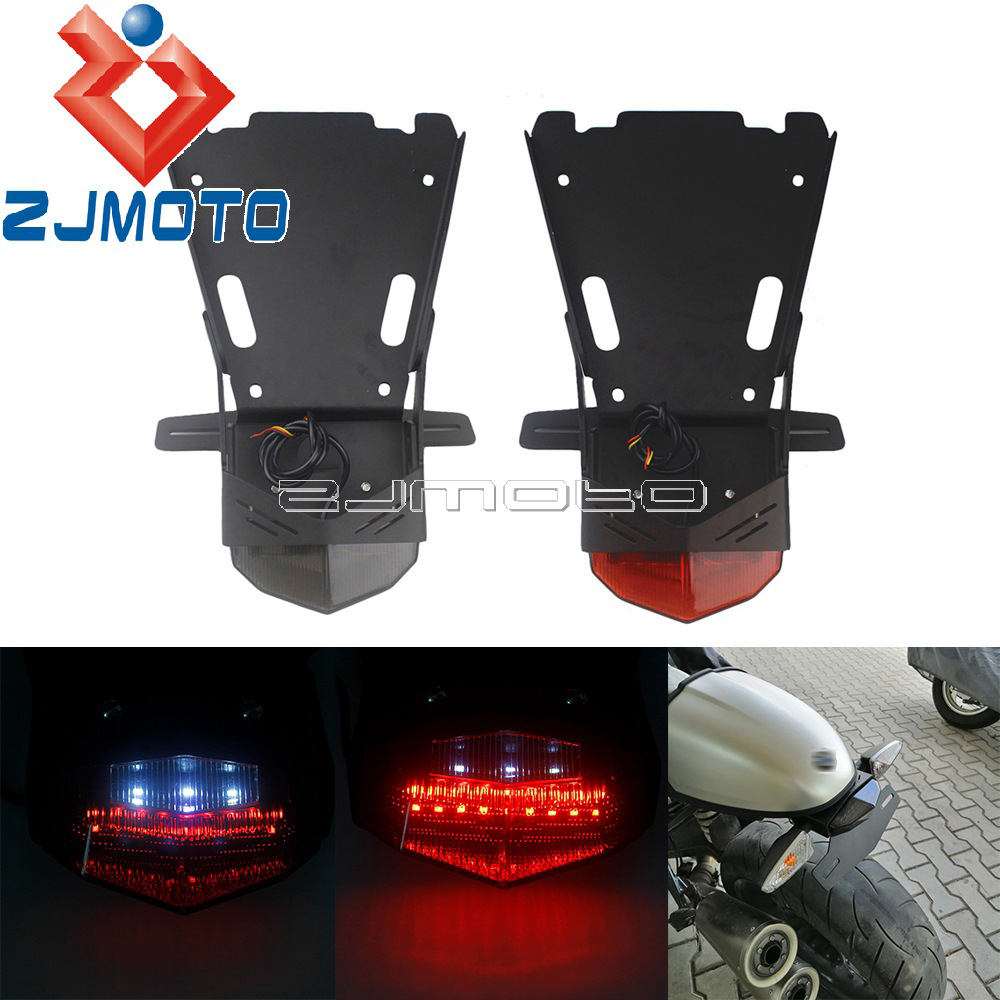 Motorcycle Stop Rear Lamp Turn Signals Holder LED Taillight <font><b>Tail</b></font> Mount License Plate Bracket For <font><b>BMW</b></font> <font><b>R</b></font> <font><b>NINE</b></font> <font><b>T</b></font> RnineT 2014-2018 image