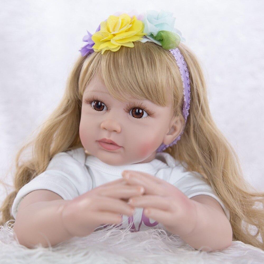 60cm Silicone Reborn bébé poupée jouets 24 pouces vinyle princesse bebe reborn bambin poupées vivant cadeau d'anniversaire lol poupées - 4