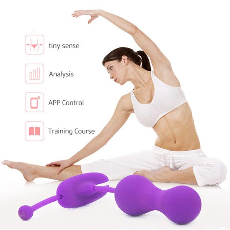 Mouvement magique Kegel maître vagin balle Bluetooth vibrateur APP télécommande intelligente serrer la formation Benwa balle jouet sexuel pour femme