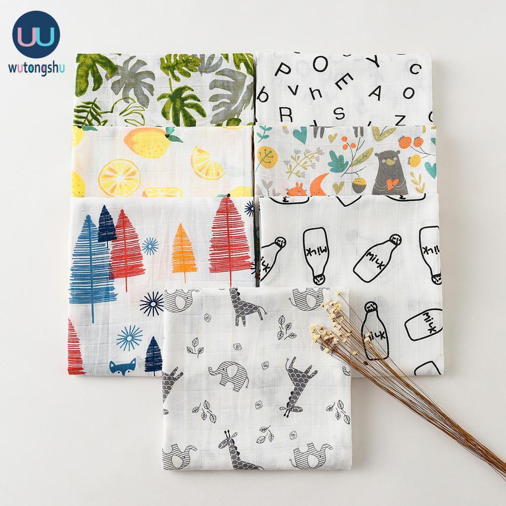 Musselin Swaddles Baby Decken Weiche Baumwolle Fotografie Zubehör Bettwäsche Druck Für Neugeborenen Swaddle Handtuch Swaddles Decken