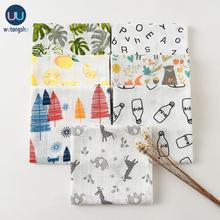Muslin Swaddles Baby Blankets Soft Cotton Photography Accessories Bedding Printing For Newborn Swaddle Towel Swaddles Blankets
