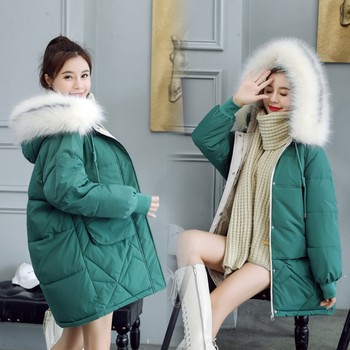 2020 winter Women's Down Jacket Woman Short Coat thick warm Women Real fox Fur Collar Down Jackets image