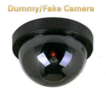 Camera Cctv-Security with Flashing Red Led-Light Plastic Smart Indoor/outdoor Dummy Home