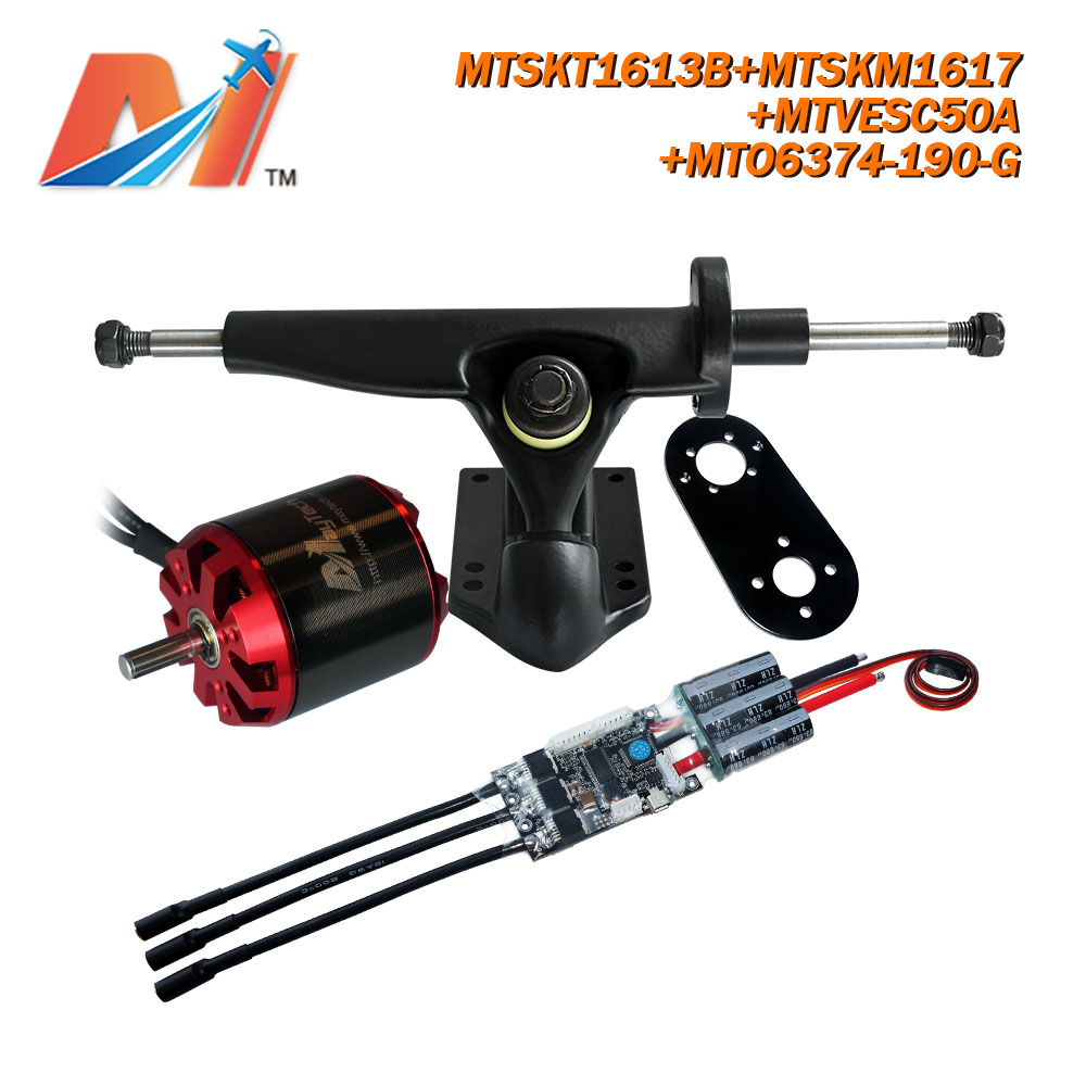 Maytech (4pcs) cruiser skateboard e mountain board <font><b>6374</b></font> sensorless <font><b>motor</b></font> <font><b>brushless</b></font> <font><b>190KV</b></font> combo image