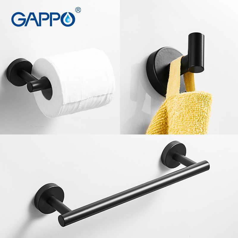 GAPPO złota czarny na ręczniki łazienka sprzętu zestaw czarny wieszak ścienny pojedynczy wieszak na ręcznik wieszak ścienny uchwyt na papier akcesoria łazienkowe Y38124-2